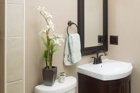Best 10 Black Bathrooms Ideas by Black Wooden Mirror Frames On Beige Wall Completed By Black Metal