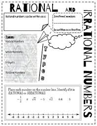doodle notes rational u0026 irrational numbers by mrs os math tpt