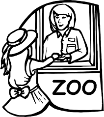 zoo cashier desk coloring page wecoloringpage