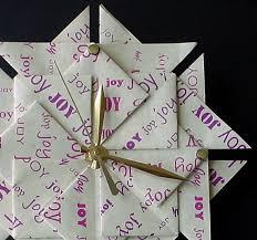 anniversary clock gifts origami 1st wedding anniversary paper gift clock in