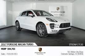 2017 Porsche Macan Turbo For Sale In Colorado Springs Co 17130