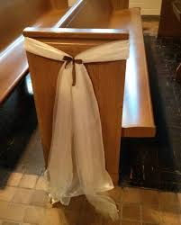 pew decorations for weddings price reduced w free shipping ivory satin sashes for wedding