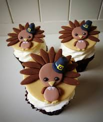how to make turkey cupcake toppers