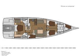 Luxury Yacht Floor Plans by Exclusive 63 Dufour Yachts