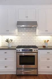 White Kitchen Tile Backsplash White Kitchen Cabinets With White Subway Tile Backsplash Beveled