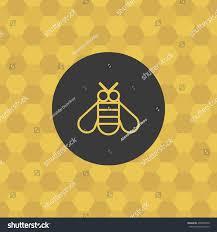 bee icon honeycomb background bumblebee symbol stock vector