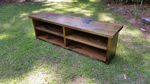 Rustic Wooden Bench Rustic High Back Storage Bench By Sbtbwoodworks On Pictures With