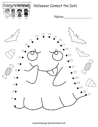 halloween connect the dots worksheet free kindergarten holiday