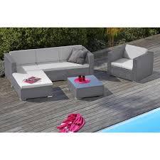 canapé de jardin en résine tressée goa salon de jardin 5 places en résine tressée et aluminium gris