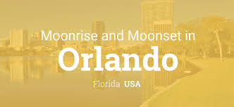 Orlando On Map by Moonrise Moonset And Moon Phase In Orlando
