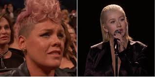Christina Aguilera Meme - p nk clears up christina aguilera shade around the amas whitney
