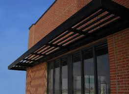 Metal Canopies And Awnings Innotech Sun Canopy In Black Exterior Ideas For Gym Pinterest