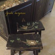 lynda bergman decorative artisan hand painted bird u0026 nest artwork