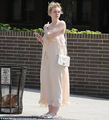 elle fanning cools off with an ice cream in nyc daily mail online