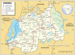 Rwanda World Map by Basic Facts About Rwanda