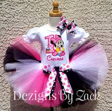 minnie mouse personalized birthday pink dots