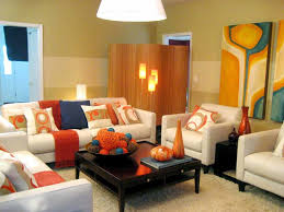 Accent Wall Tips by Orange Brown Living Room Themes Interior Color Tips Youtube