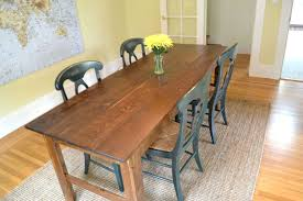 long narrow rustic dining table long dining table bench kitchen at rustic room with tables