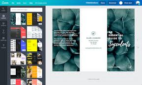 Create An Online Resume For Free by Free Online Brochure Maker Canva