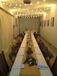 hosting thanksgiving dinner small space dinner in garage