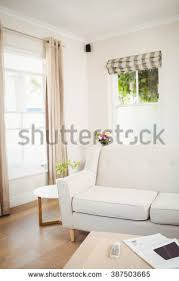 Table With Sofa Bright White Bedroom King Size Bed Stock Illustration 367199549