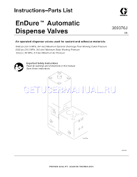 dispense pdf graco melt équipement 309376j endure automatic dispense