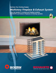multistory fireplace u0026 exhaust systems exhausto pdf catalogue