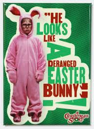the story of the easter bunny a christmas story deranged easter bunny fridge magnet ralph