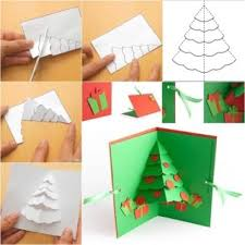 Arts And Crafts Christmas Tree - wonderful diy glittery christmas tree greeting card