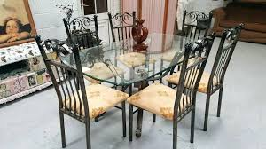 Rod Iron Dining Room Set Iron Dining Room Set Ex Large Wrought Iron Dining Table 6 Chairs
