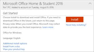 using product with office 365 office 2016 or office 2013
