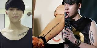 infinite l tattoo 10 things deep meanings behind k pop idols tattoos kpopmap