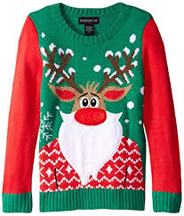 rudolph sweater blizzard bay bearded rudolph sweater