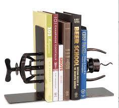 unique book ends corkscrew bookends library decor