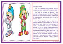 29 free esl clown worksheets