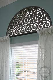 Half Height Curtains Custom Arched Rod This Is The Best Solution I Have Found For An