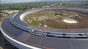 take an aerial tour of apple s epic new cus as its opening date