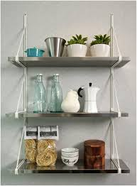 wall mounted kitchen shelves ikea 3 tiered stainless steel wall