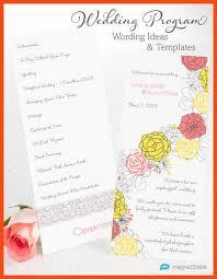 wedding program sles wording wedding program sles program format