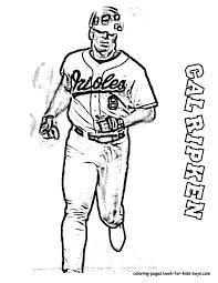 coloring page of a baseball player coloring home