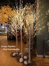 artificial birch trees with lights 8 foot white birch tree 240 warm white led s from the light garden