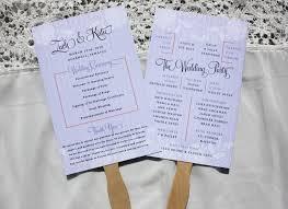 Wedding Ceremony Program Fans Destination Archives Page 10 Of 26 Emdotzee Designs
