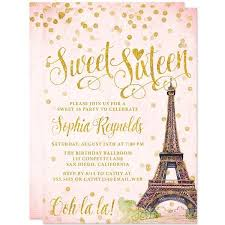 sweet 16 invitations sweet 16 invitations blush gold confetti the spotted olive