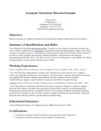 Computer Hardware And Networking Resume Samples Computer Technician Resume Sample Electrical Engineer Resume