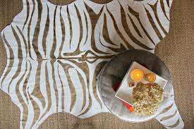 Blue Animal Print Rug Flooring Contemporary Zebra Print Rug With Modern Look
