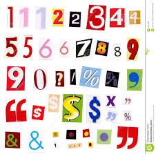 cut outs numbers magazine cutouts stock photos image 2647943