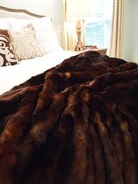 Furry Blanket Furniture Dark Brown Faux Fur Throws