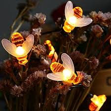 solar powered string lights icicle solar string lights 20 led honey bee shape solar powered