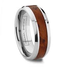 wood wedding band 8mm thuya burl wood tungsten wedding band