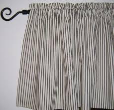 Gray Cafe Curtains Ticking Stripe Cafe Curtains Navy Blue Black Aqua Gray